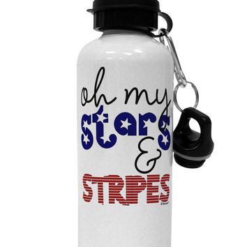 Oh My Stars and Stripes - Patriotic Design Aluminum 600ml Water Bottle