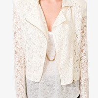 Romantic Lace Moto Jacket