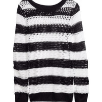Mesh-knit Sweater - from H&M