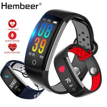 Hembeer E6 Swimming Smart Bracelet Refuse Call Fitness Tracker Heart Rate Monitor Blood Pressure Monitor Band Hours pk fitbits