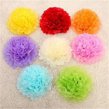 50Pcs 10CMArtificial Flowers Paper PomPom Tissue Flower Balls For Home Wedding Party Car Decoration Crafts Pom Poms Paper Flower