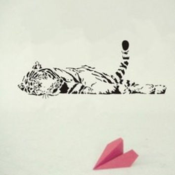 High Quality Removable Tiger Bedroom Decoration Wall Art Sticker