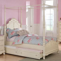 Priscila Twin Size Canopy Bed
