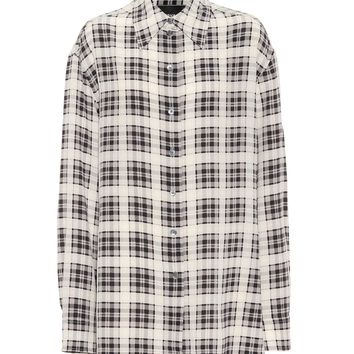 Checked silk shirt