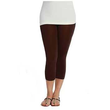 Plus Size Seamless Smooth Crop Leggings