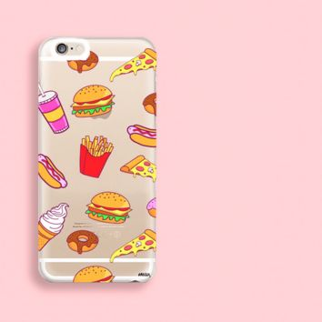 """CLEARANCE"" iPhone 6 Clear Case Cover - Fast Food Phone"