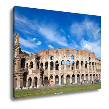 Canvas Ruins Of The Colloseum In Rome Italy 16x20