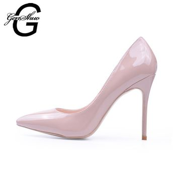 Women High Heels Shoes 10cm Pumps Women White Shoes for Wedding Lacquer Stiletto High Heeled Shoes Party Thin Heels Black Red