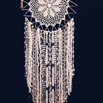 10 inch White Dream Catcher