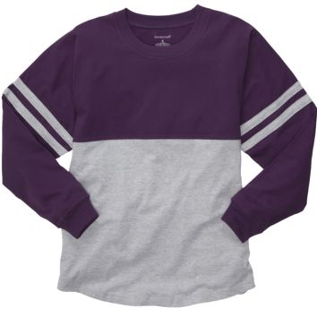 Purple and Oxford Pom Pom Jersey