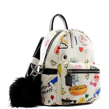 Fashion Emoticon Mini Backpack