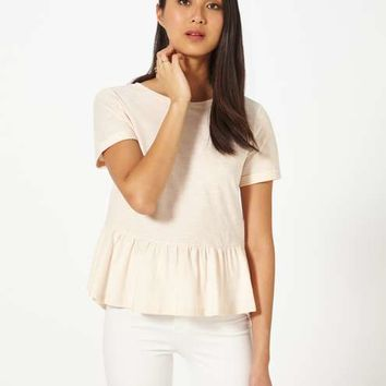Nude Shortsleeve Peplum Tee - New In