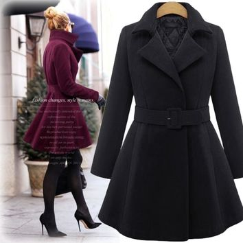 Women's Fashion Winter Long Sleeve Slim Jacket [45262897177]