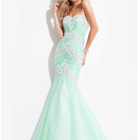 Sweetheart Ruched And Beaded Mermaid Prom Dress By Rachel Allan 6983