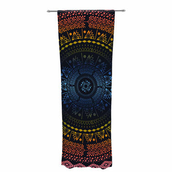 "Famenxt ""Night Queen Boho Mandala"" Multicolor Illustration Decorative Sheer Curtain"