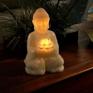 Home Reflections Wax Buddha Flameless Candle w/Timer — QVC.com