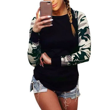 Women Fashion T Shirt Women Long Sleeve Fitness Military Uniform Combat Clothing Hunt Workut Tee Tops