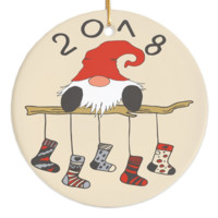 2018 Christmas Porcelain Ornaments