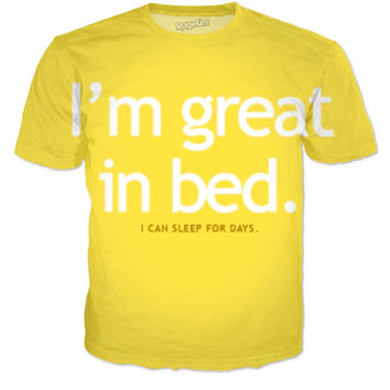 IM GREAT IN BED