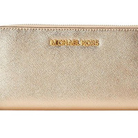 Michael Kors Women Jet Set Continental Leather Wallet Baguette