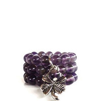 Recovery Gemstone Rings Yoga Jewelry Amethyst Healing Good Luck Spiritual Purple Unique Mothers Day Etsy Gift  For Her Under 20 Item L8