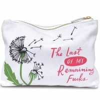 The Last Of My Remaining Fucks Canvas Zipper Pouch