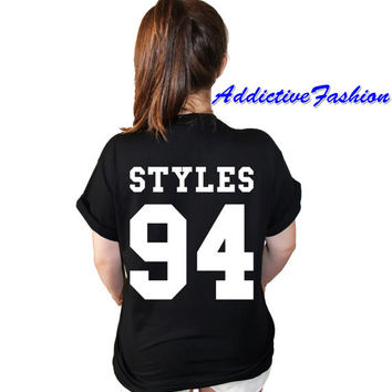 Harry styles birth date one direction t from American football style t shirts