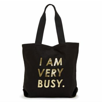 ban.do - canvas tote - i am very busy black