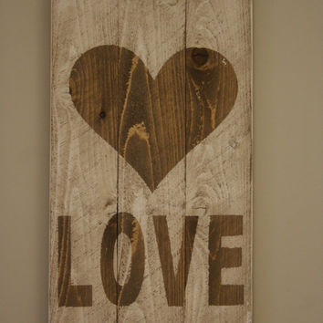 Rustic LOVE Sign Pallet Sign Vintage Sign Wall Decor Wedding Sign Shabby Chic Anniversary
