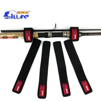 4Pcs/Lot iLure Fishing Rod Cable Tie Fishing Rod Wrap Bundle Rod Strap Belts Fishing Rod Tackle