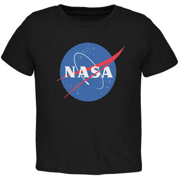 NASA Logo Black Toddler T-Shirt
