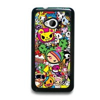 DONUTELLA UNICORNO TOKIDOKI COLLAGE HTC One M7 Case Cover