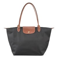 Le Pliage Monogram Large Shoulder Tote Bag, Classic Colors - Longchamp
