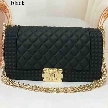 Chanel Exquisite Elegant Leather Women Fashion Tote F-LLBPFSH Black