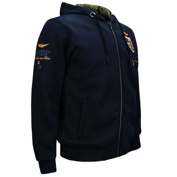 Air Force One Pilot Hoodies Men 2017 Autumn Ma1 Bomber Casual Army Military Hooded Jacket Cardigan Men Coat Sweatshirt M-4XL