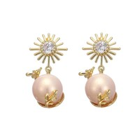 Zella Stud Pearl Earrings
