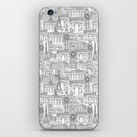 EUROPE LANDMARK PATTERN iPhone Skin by Color and Color