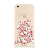 Cutie Dogs Pile up Pattern iPhone 6s 6 Plus Soft Clear Case