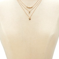 Layered Charm Necklace | Forever 21 - 1000171473