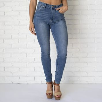 Ava High Waist Denim Skinny Pants