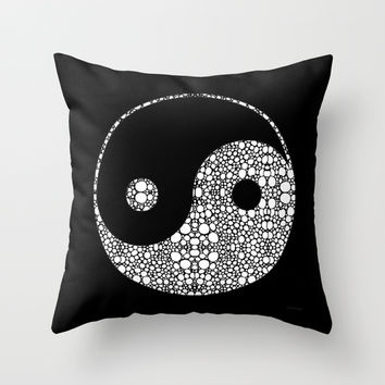 Perfect Balance 2 - Yin and Yang Stone Rock'd Art by Sharon Cummings Throw Pillow by Sharon Cummings