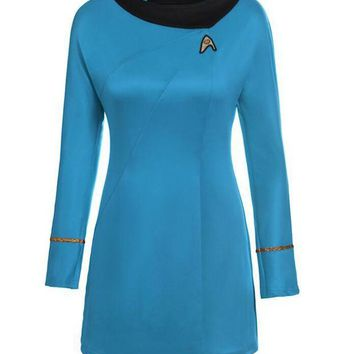 LMFON TPRPCO star trek female uniform Dress cosplay costume C40134143