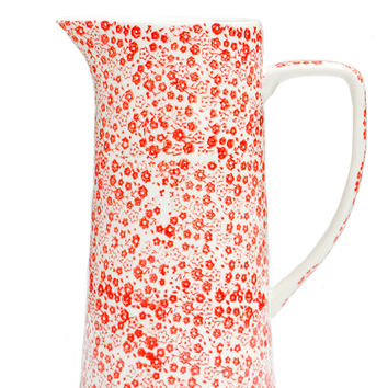Ditsy Floral Ceramic Pitcher