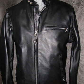 Schott Nyc 641 Men's Single Rider Steerhide Leather Motorcycle Jacket NEW W/TAG
