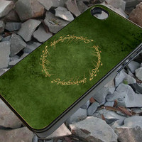 Lord of the Rings Circle Script Cute for iPhone 4/4s case,iPhone 5/5s case, Samsung Galaxy S3, Samsung Galaxy S4 in McQueenPhone