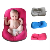 Infant Baby Bath Pad Non-Slip Bathtub Mat NewBorn Safety Security Bath Seat Support Baby Shower Portable Air Cushion Bed Infant