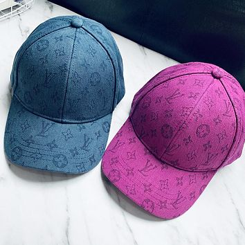 LV Louis Vuitton Fashion Women Men Jacquard Sun Hat Baseball Cap Hat