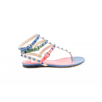 Valentino Womens Ankle Strap Flat Sandal KW2S0812 VHE S64