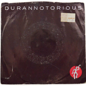 Vintage 80s Duran Duran Notorious New Wave Picture Sleeve 45 RPM Single Record Vinyl