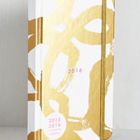 Glam With a Plan 2016 Planner in Gold Swirl by ModCloth